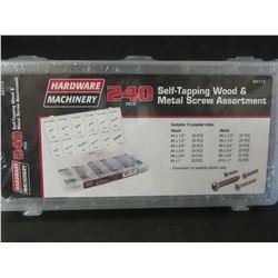New 240 piece Self-Tapping Wood & Metal Screw Assortment