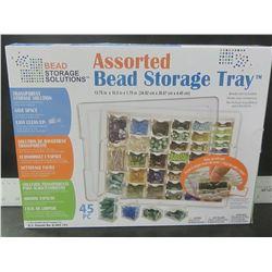 New 45 piece Assorted Bead Storage Tray