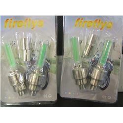 New Firefly Valve Stem Motion sensor LED Lights / green