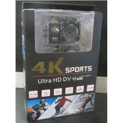 New 4K Sports Ultru HD DV water resistant to 30m/16mp/4K/64G/170deg/wifi