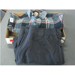 Red Head plaid shirt size sm and pair of pants