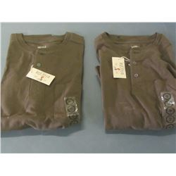 2 Red Head chestnut long sleave shirts / size Med.
