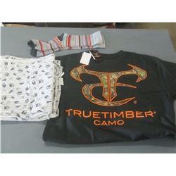 True Timber t-shirt / socks and small sheet