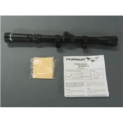 Pursuit Rifle scope 3 - 7 x 20/ mounts easily on 22 cal or air guns/coated lenses