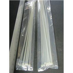 "20"" Cable/Zip ties / 2 packs of 10 each / 4.8mm x 20"" will not loosen"