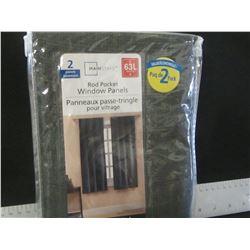 "2 rod pocket Window panels 40"" wide x 63"" long / Privacy"
