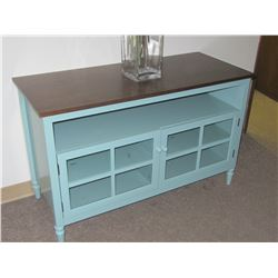 New Solid wood Entertainment Unit / Teal / brown