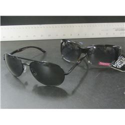 2 New Foster Grant Sunglasses / 1 mens + 1 women's ax block 100% protection