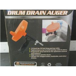 New 16ft Drum Drain auger / clean out your own drains save money