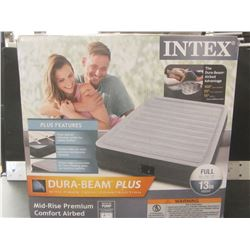 "Intex Full dura beam plus Air bed with built in pump/ size full/13"" high"