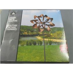 Spinning Kinetic Sculpture / 16 inch x 57 high