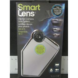 Smart Lens clip-on camera lens system for your phone/ macro/fish eye/wide angle