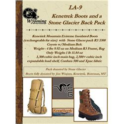 Kenetrek Boots and Stone Glacier Pack