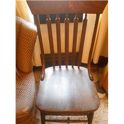 Vintage Chair & Magazine Rack