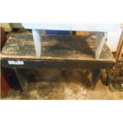 Bundle Lot / Antique Bench / Antique Stool