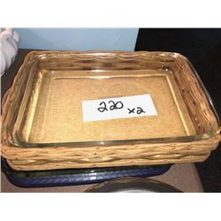 Pyrex Glass Baking Dishes x2