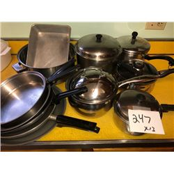 13 PC Asstd. Skillets, Covered Pots and Pans