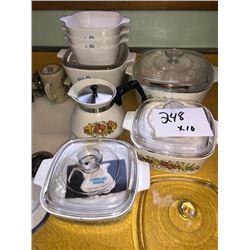 Pyrex Cookware Lot x10 like new