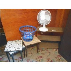End Stand, Stand, Tile Stand, Fan, Laundry Basket