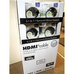 HD 1080 Audio Video /12 Ft HDMI Cable / PDQ & Floor Display