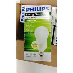 Philips Energy Saver Bulbs  7 year /60 W $6.89