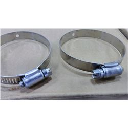 "3"" Stainless Steel Hose Clamps, Made in USA $3.99"