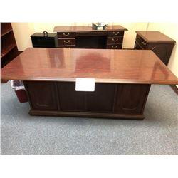 Executive desk, (10) drawers