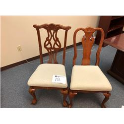 (2) wooden chairs
