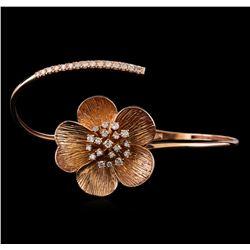 0.92 ctw Diamond Bracelet - 14KT Rose Gold