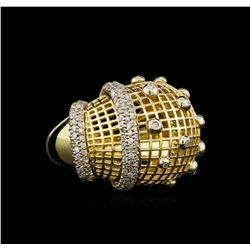 14KT Yellow Gold 0.98 ctw Diamond Ring