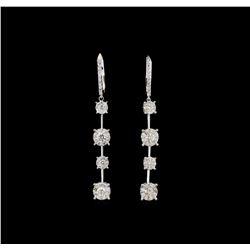 14KT White Gold 2.24 ctw Diamond Earrings