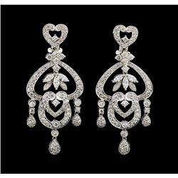 2.47 ctw Diamond Earrings - 18KT White Gold