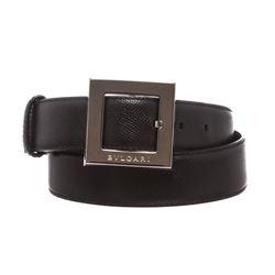 Bvlgari Black Leather Belt
