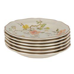 "Mikasa China Heritage ""Olde Tapestry"" 8"" Salad Plates - Lot of Six"