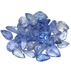 12.72 ctw Pear Mixed Tanzanite Parcel