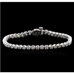 14KT White Gold 2.01 ctw Diamond Tennis Bracelet