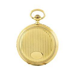 Vintage Tavannes Pocket Watch - 14KT Yellow Gold