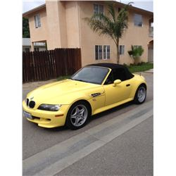 2000 Yellow BMW M3 Roadster