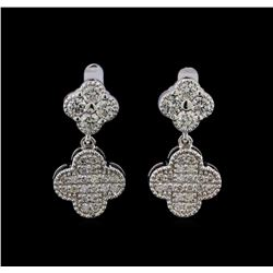 0.78 ctw Diamond Earrings - 14KT White Gold