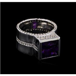 Crayola 3.5 ctw Amethyst and White Sapphire Ring - .925 Silver