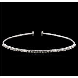 0.82 ctw Diamond Bracelet - 14KT White Gold