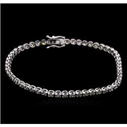 2.20 ctw Diamond Tennis Bracelet - 14KT White Gold