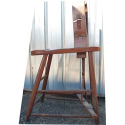 wooden antique stitching horse