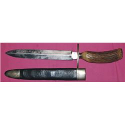 Schively, Philadelphia spear point stag handle knife
