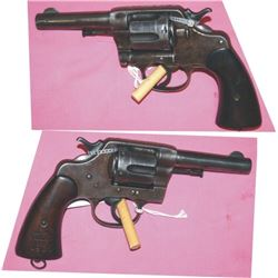 Colt New Service .45 with rare short barrel marked Llano, TX 1905m mfg 1904,