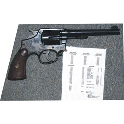 Wells Fargo S & W .38 hand ejector model 1905, documented, marked on frame under grips, very good co