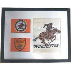 framed Winchester advertising piece