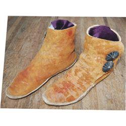 Navajo buffalo hide squaw boots