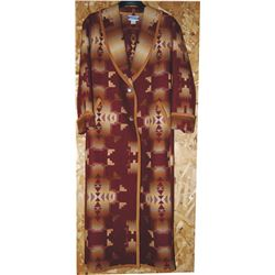 full length Pendleton wool coat