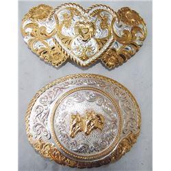 Crumrine, Reno heart silver buckle